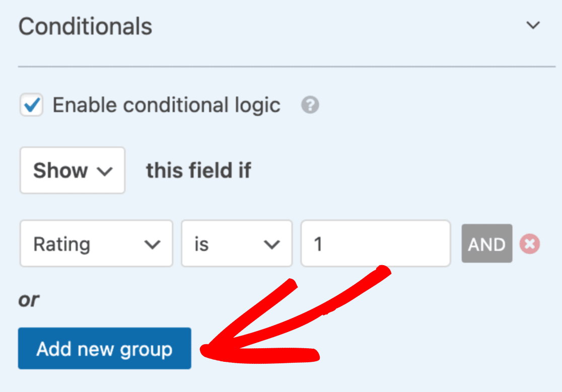 Click add new group button
