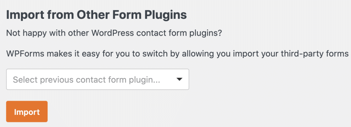 Import form from other plugin