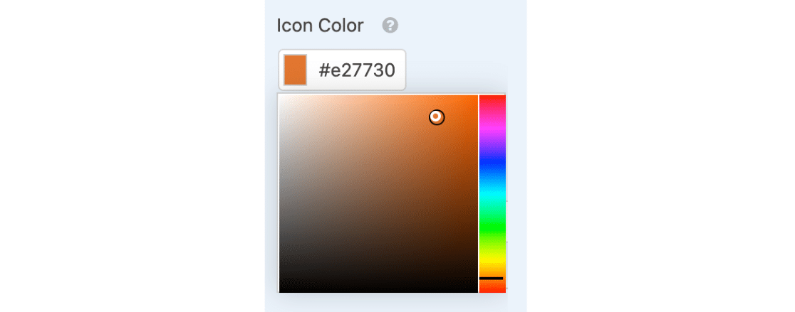Ratings field icon color picker