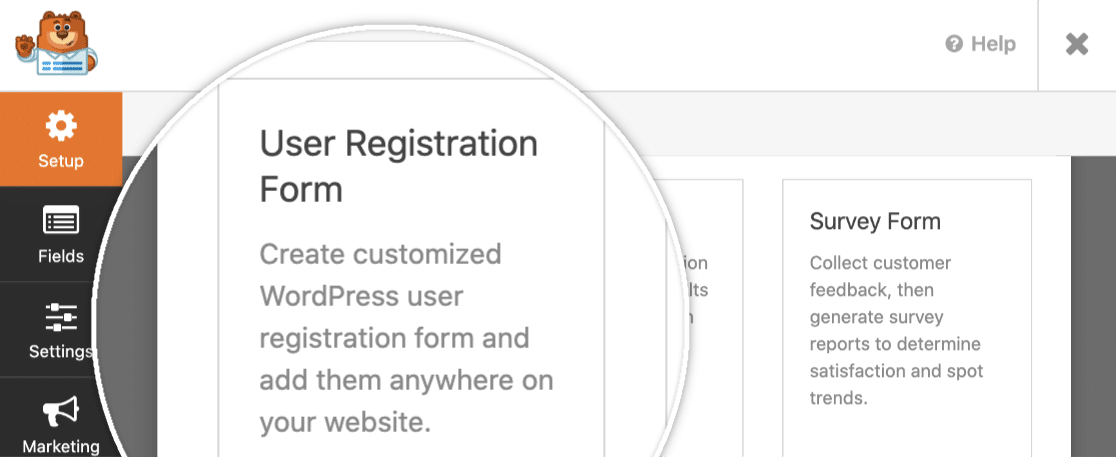 wpforms user registration template
