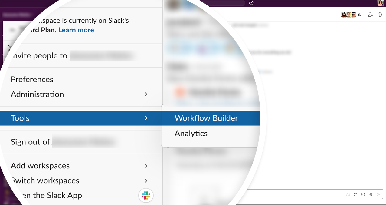 From the Tools menu click Workflow Builder to create a new workflow