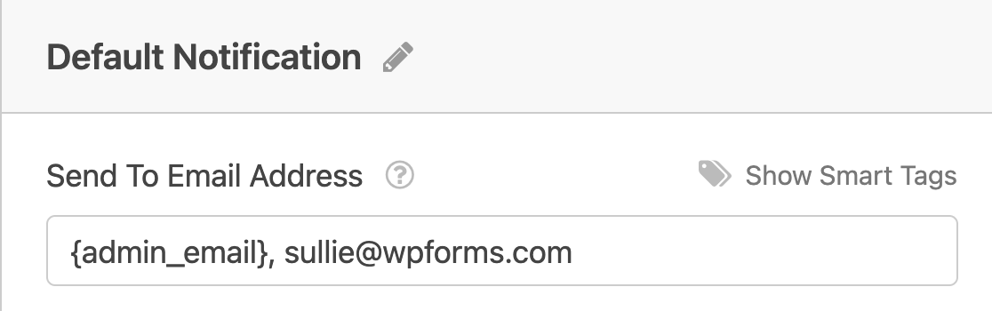 Adding multiple send to email addresses for an email notification