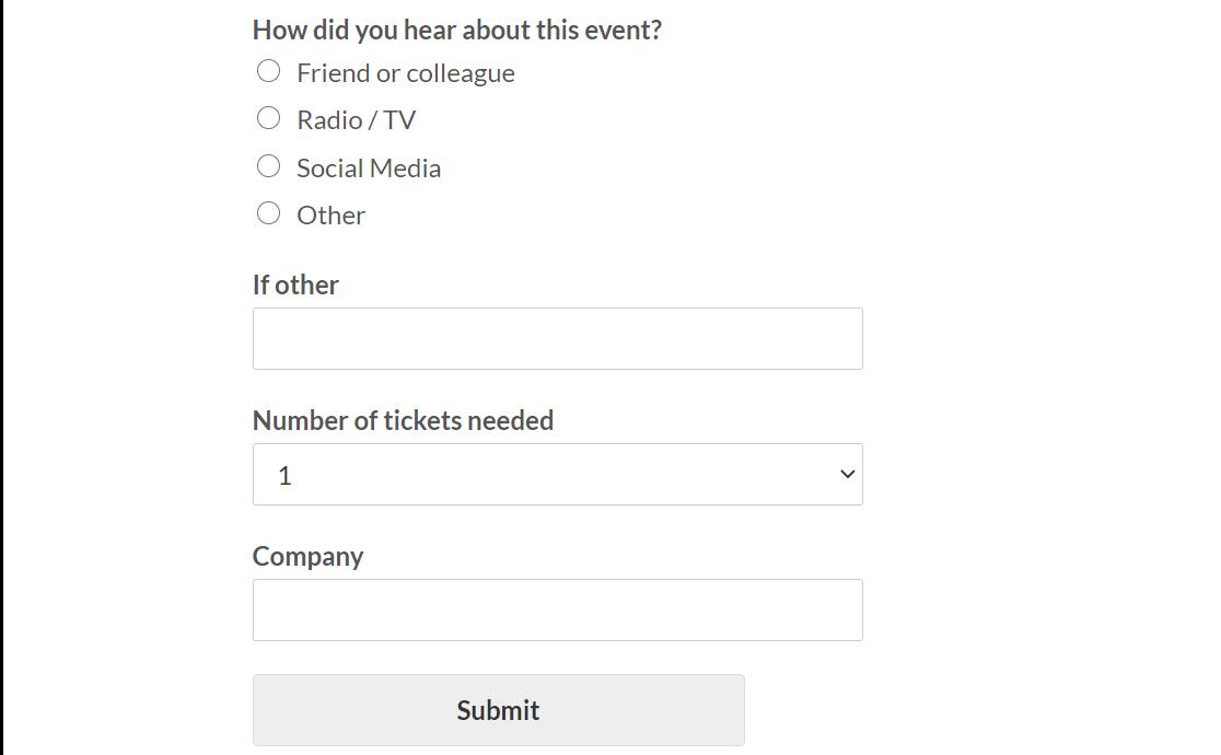 event registration form wpforms nonprofits