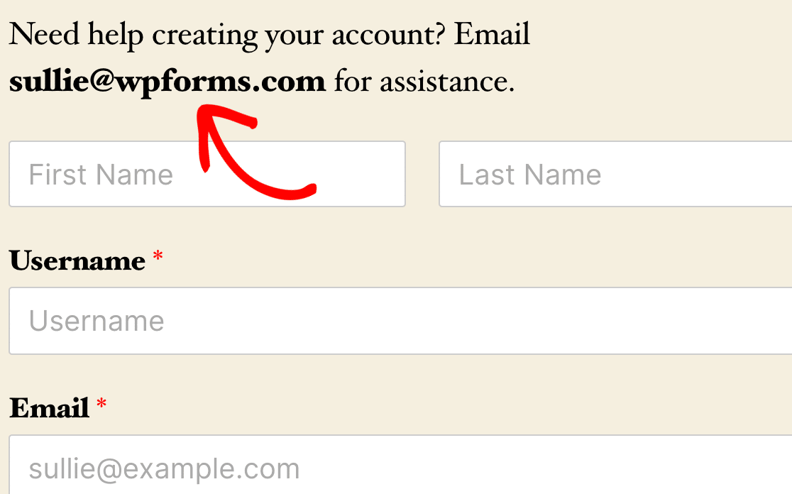 Displaying the admin email in a form description on the frontend using a Smart Tag