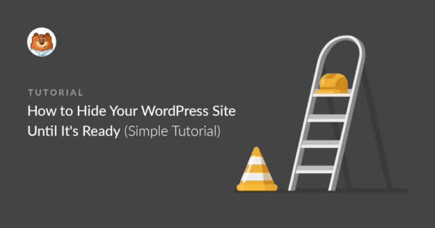 Hide WordPress site until it's ready