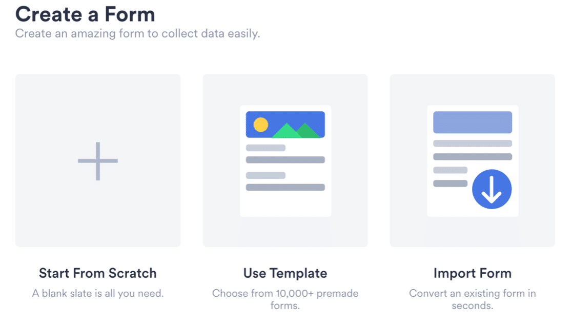 Create a form in JotForm