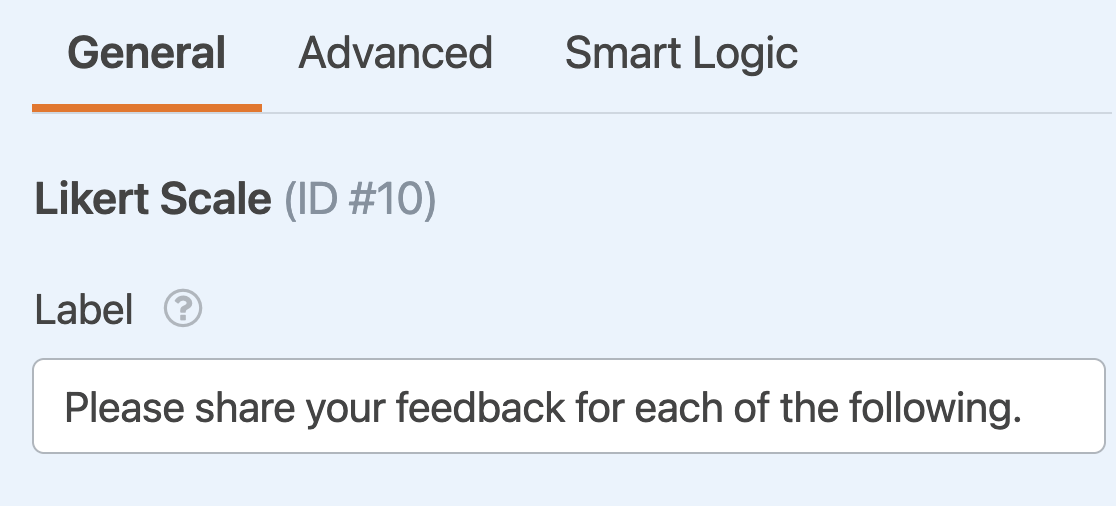 Adding a label to a Likert Scale