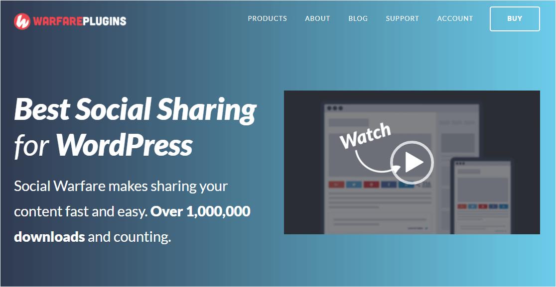 social warefare social media plugin