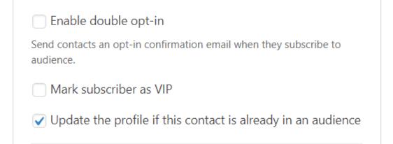 update profile wpforms mailchimp addon