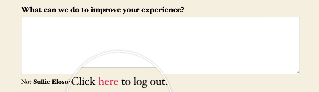 The {url_logout} Smart Tag on the frontend