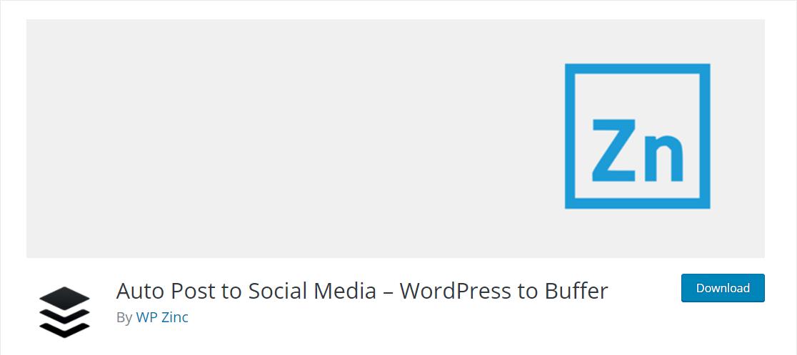 wordpress to buffer plugin for social media