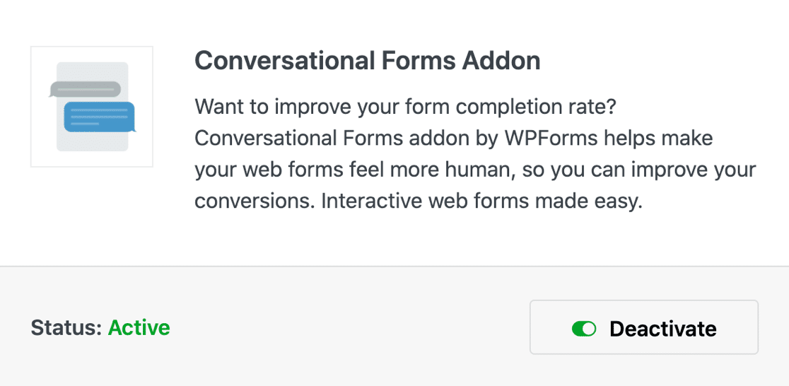 WPForms conversational forms addon