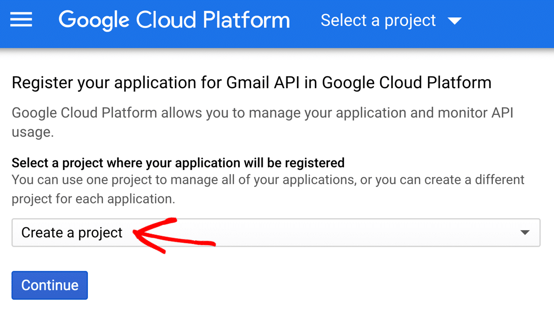 Create a Project in Google Cloud
