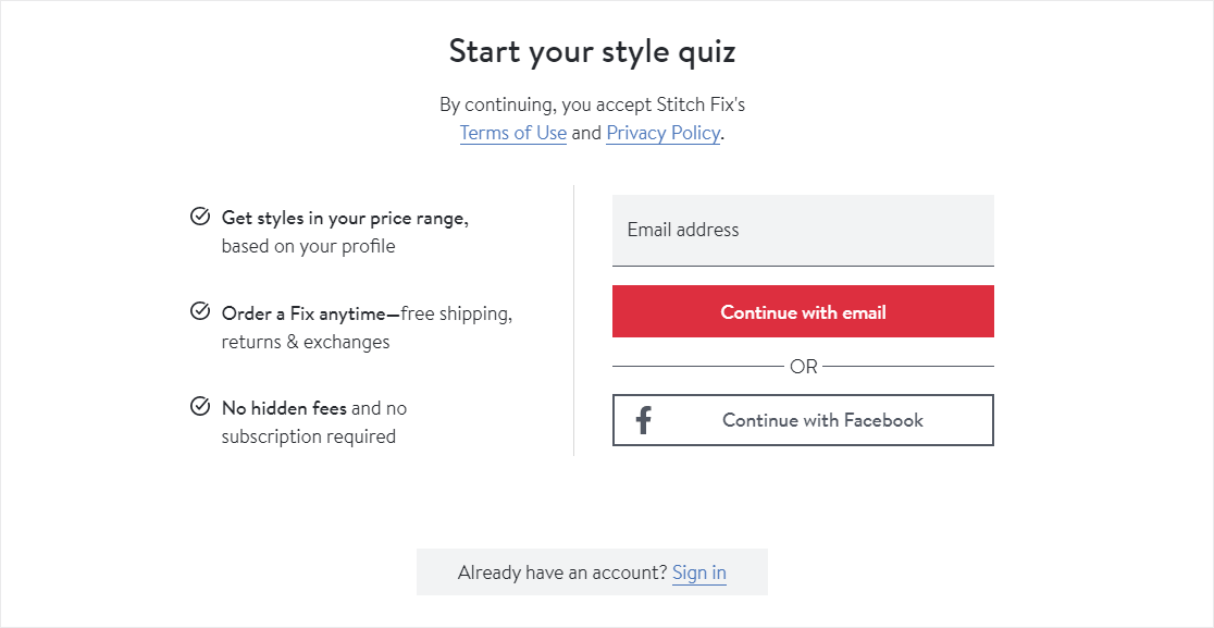 quiz results gated content