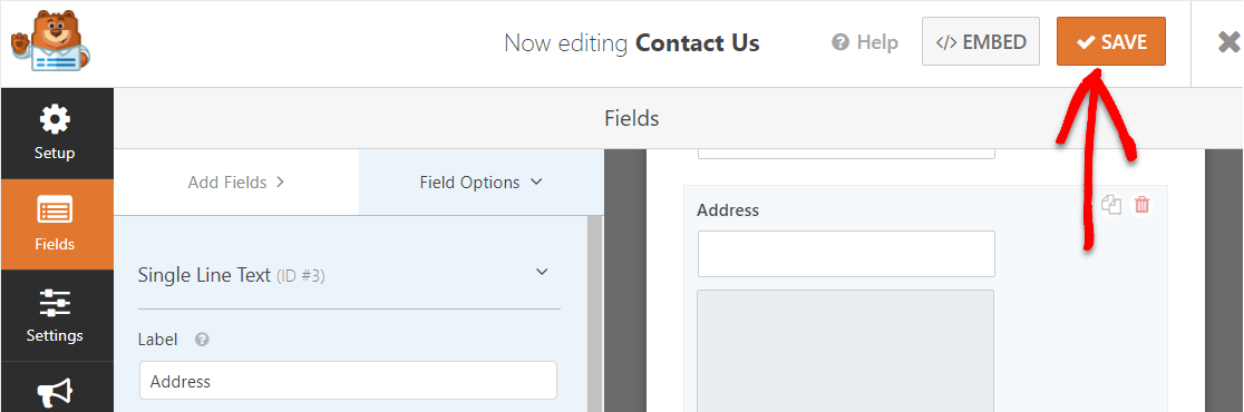 save your contact form with a map on wordpress