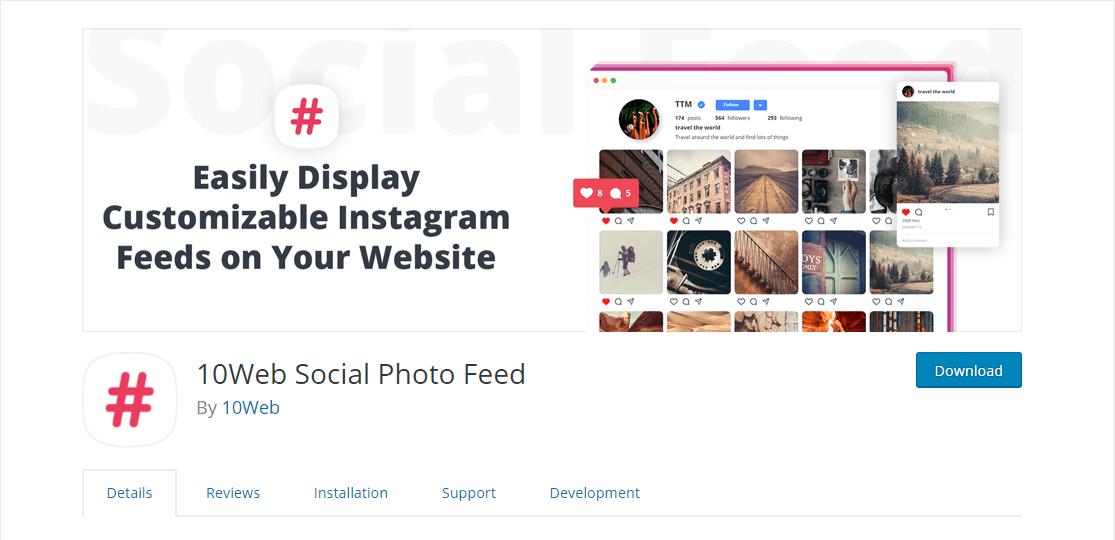 social photo feed wordpress instagram plugin