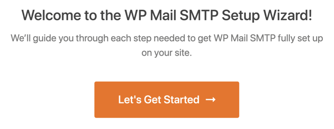 WP Mail SMTP Setup Wizard