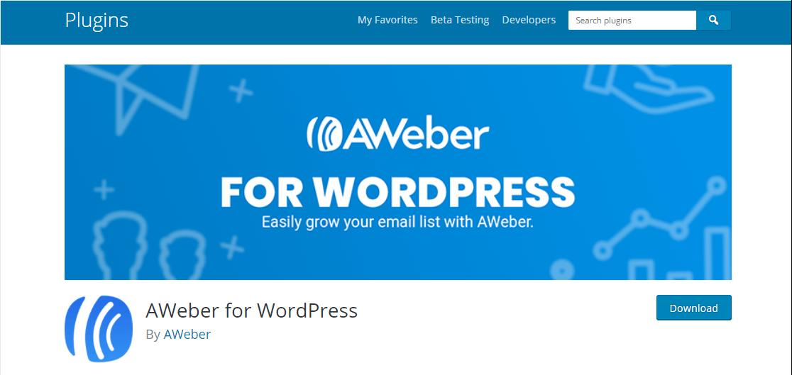 aweber for wordpress integration plugin