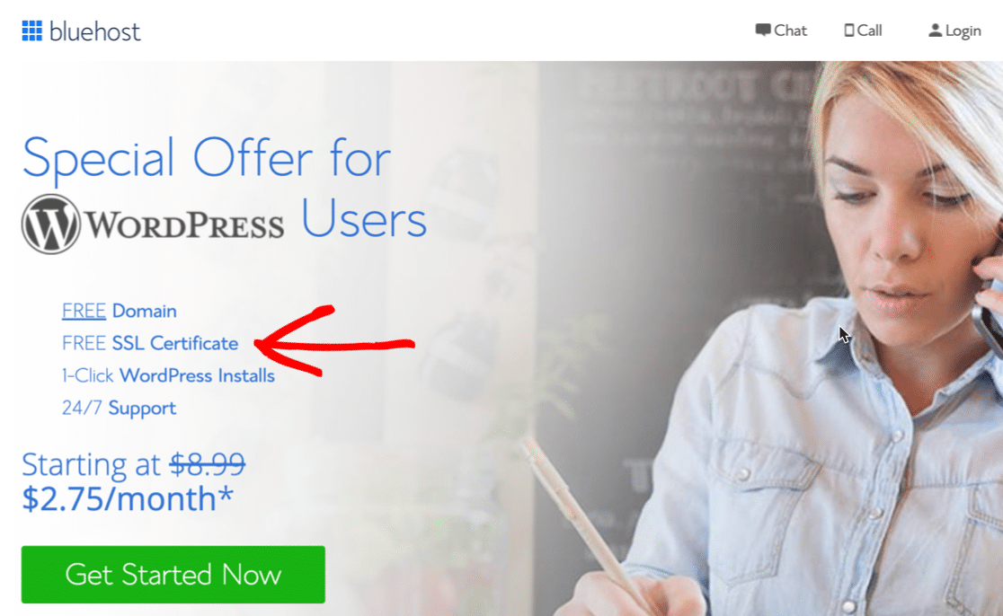Free SSL with Bluehost