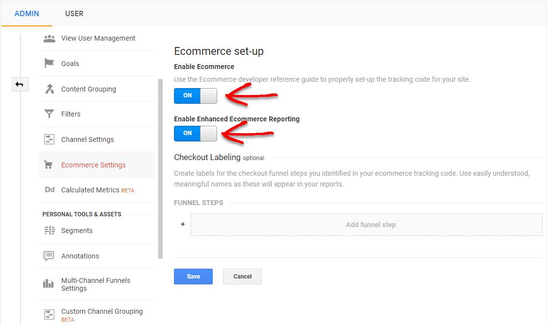 ecommerce google analytics setup for woocommerce