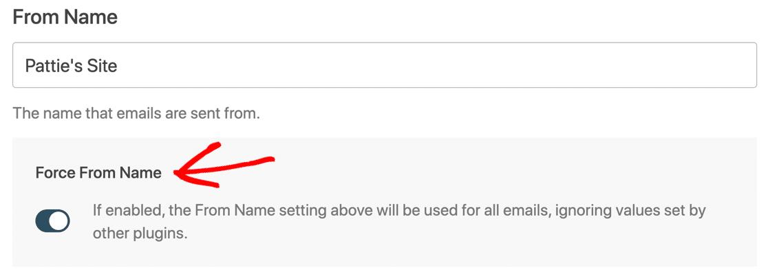 Force From Name for Gmail in WordPress