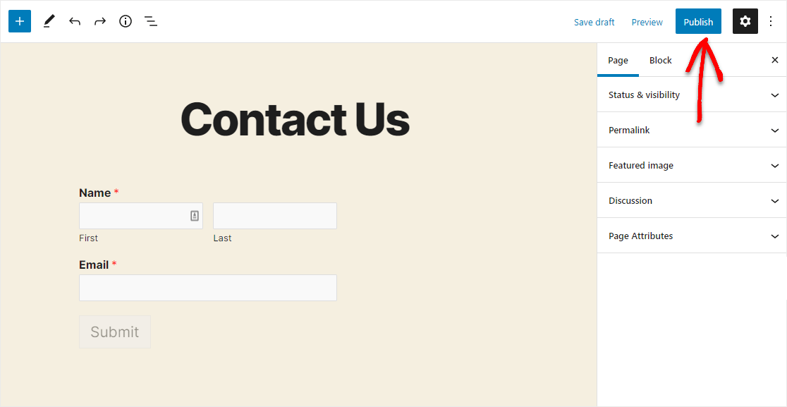 how to publish your sendinblue wordpress form