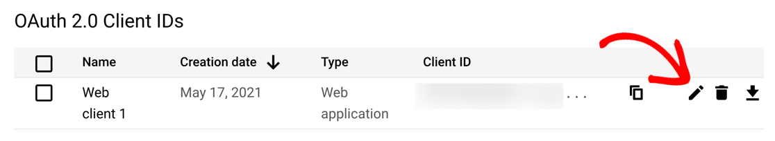 OAuth client ID list