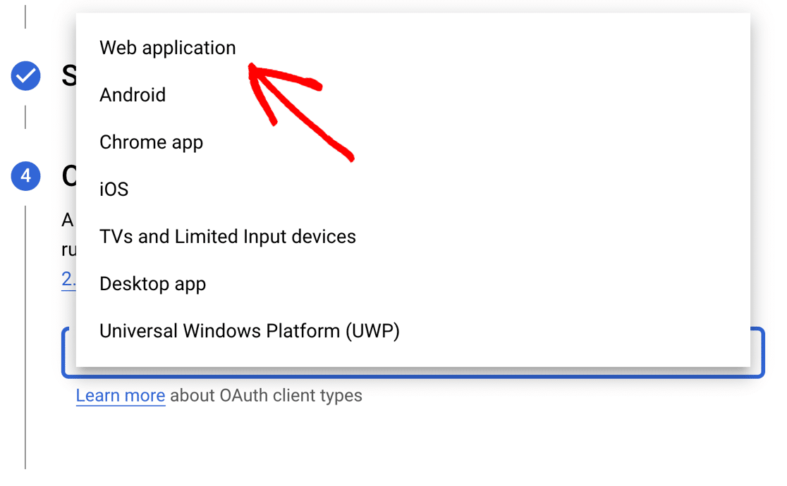 OAuth web application