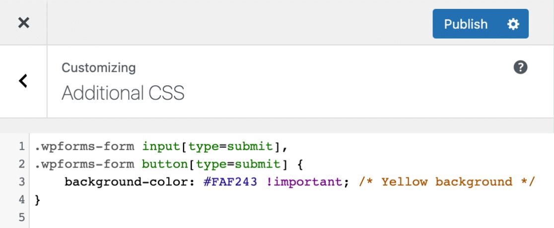 WordPress CSS editor