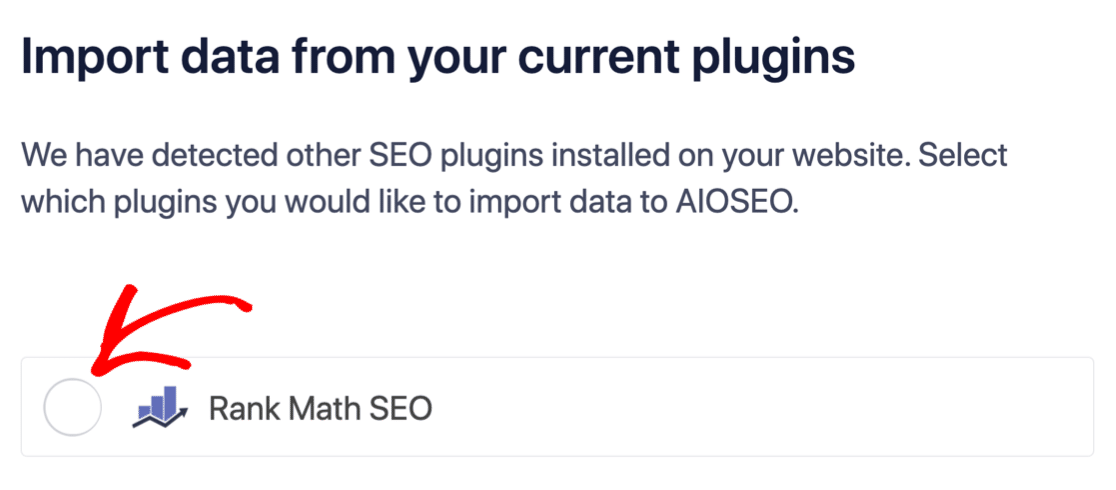 Import settings from another SEO plugin in AIOSEO