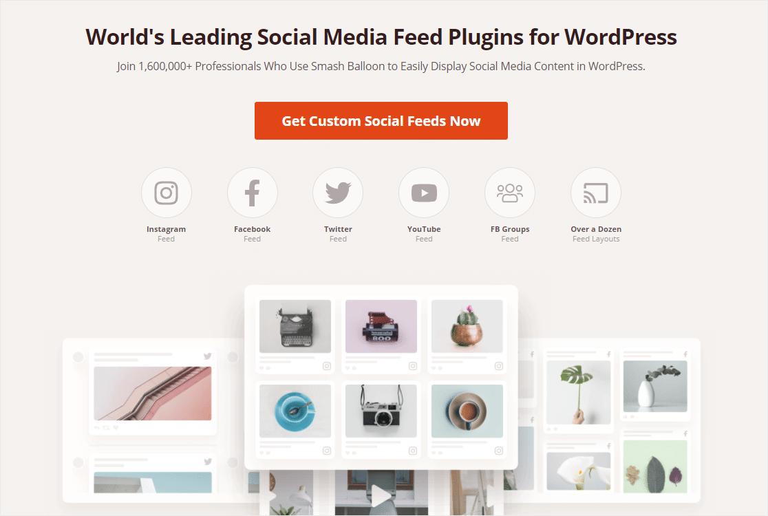 custom social feeds from smash balloon