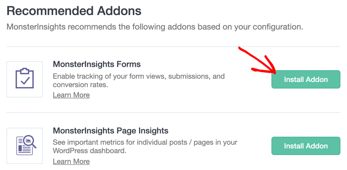 Install Forms addon