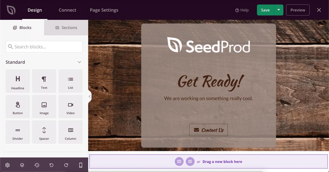 SeedProd maintenance mode template