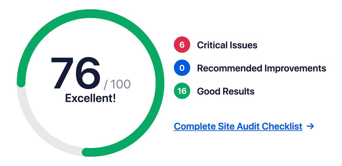 AIOSEO Site Audit