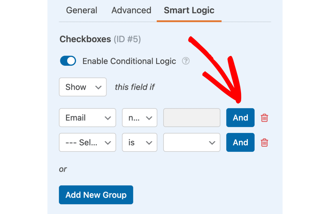 Add AND logic to field