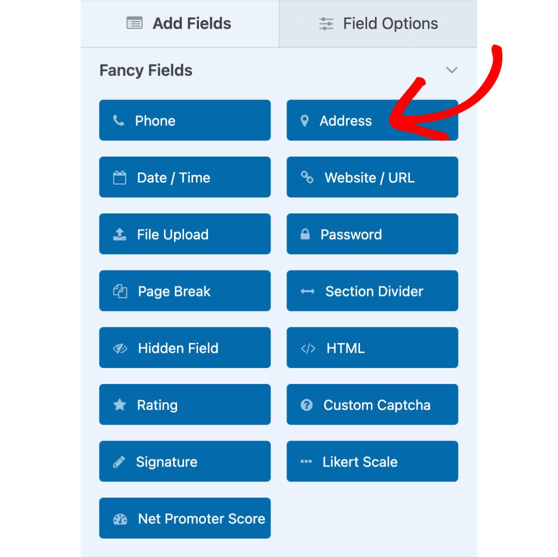 Address field in WPForms