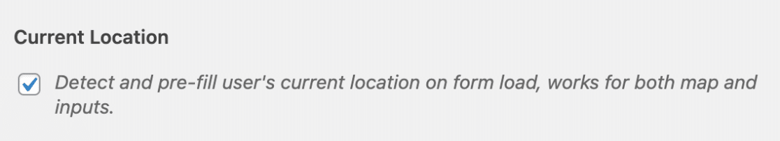 Allow users current location to be filled
