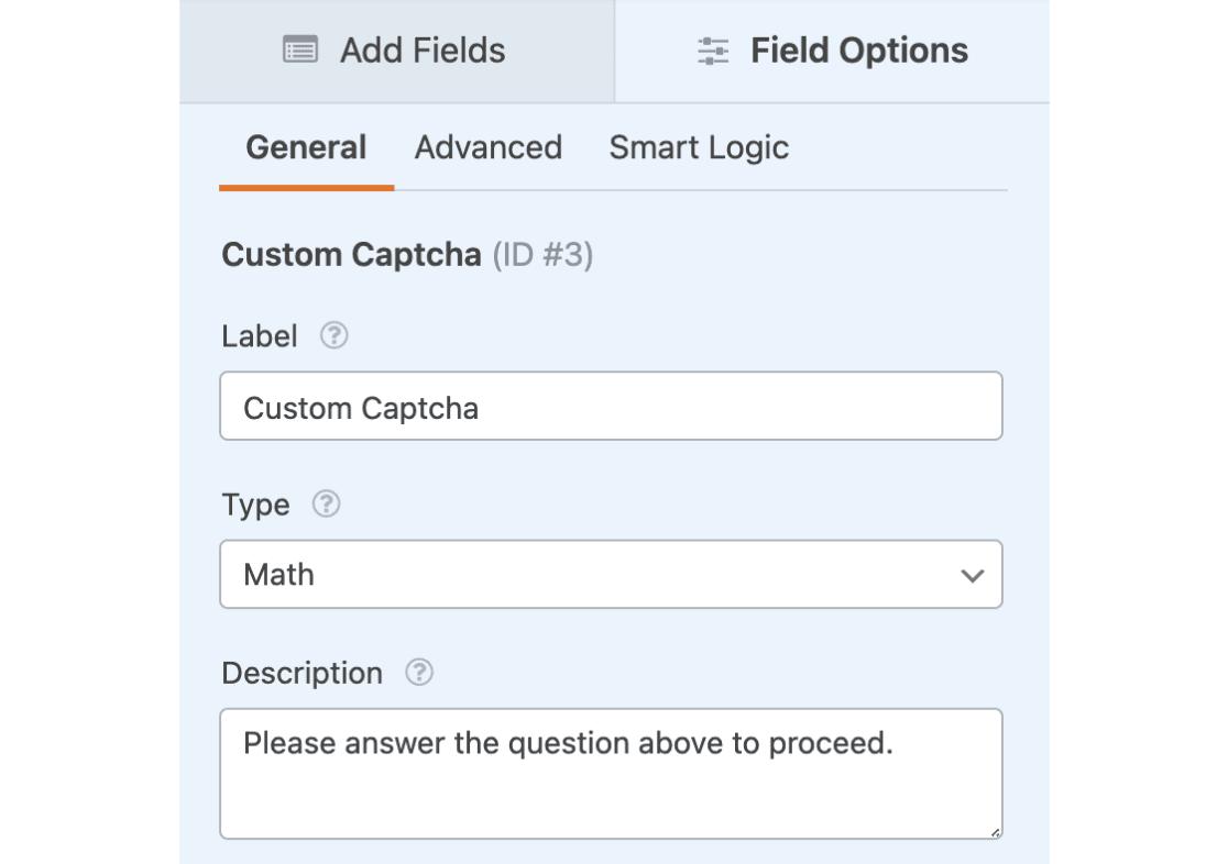 Custom Captcha example