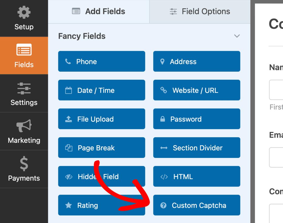 Custom Captcha field