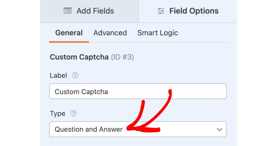 Custom Captcha question and answer