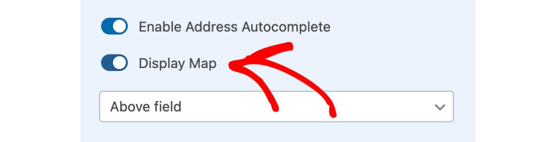 Display map option in Address Field