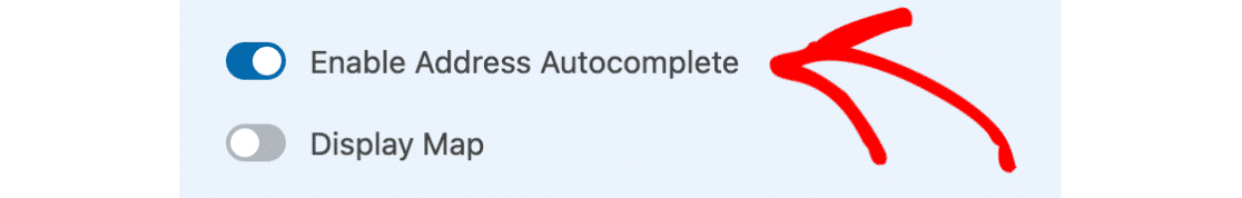 Enable address autocomplete in WPForms