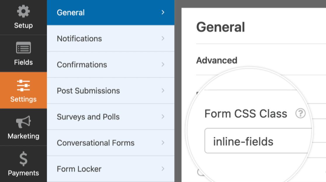 Inline fields CSS