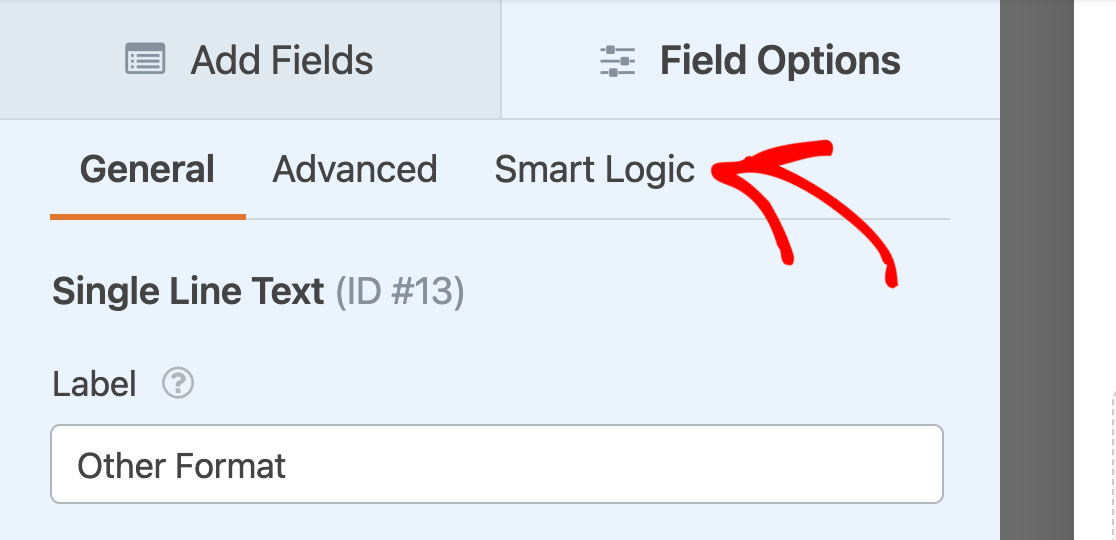 Accessing the Smart Logic tab