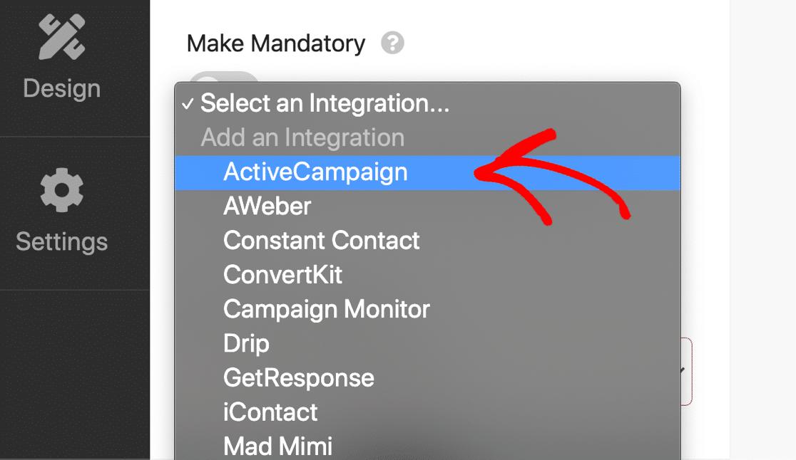 ActiveCampaign integration in RafflePress