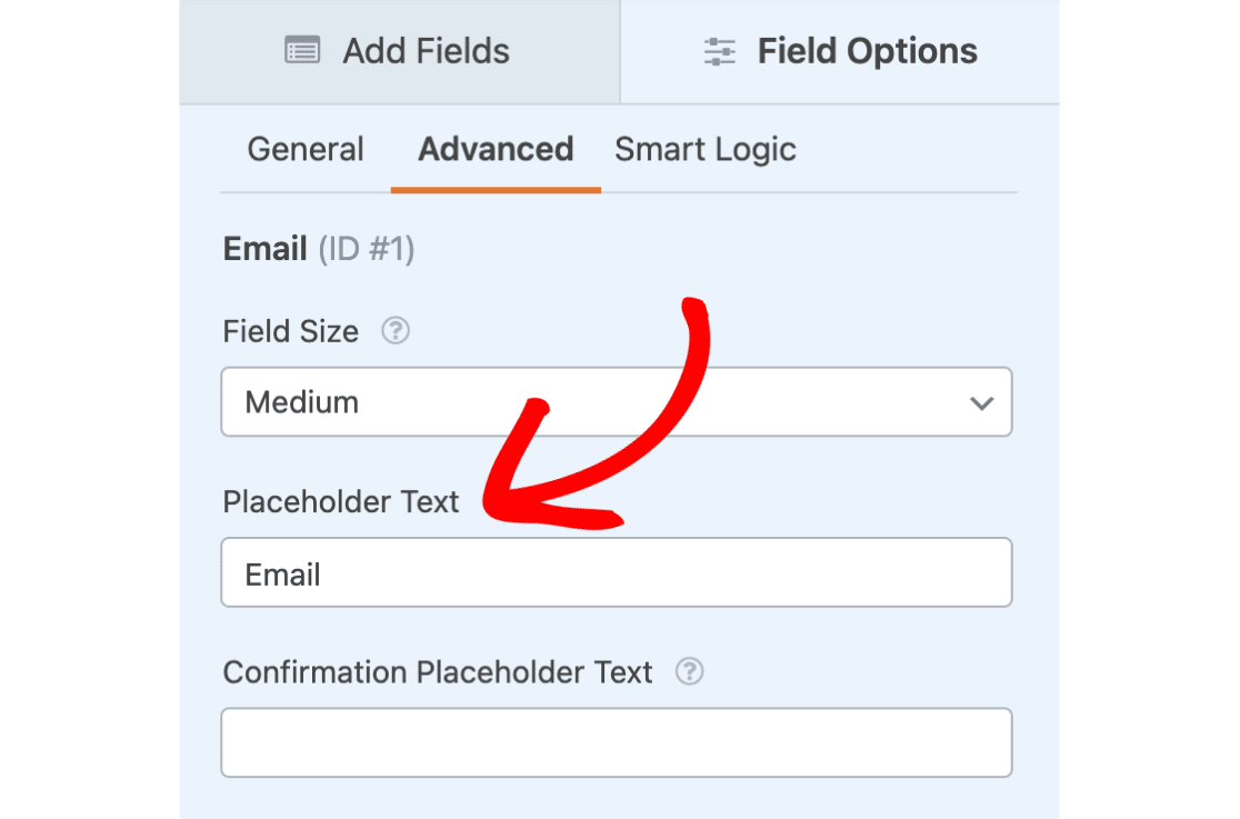 Add placeholder text