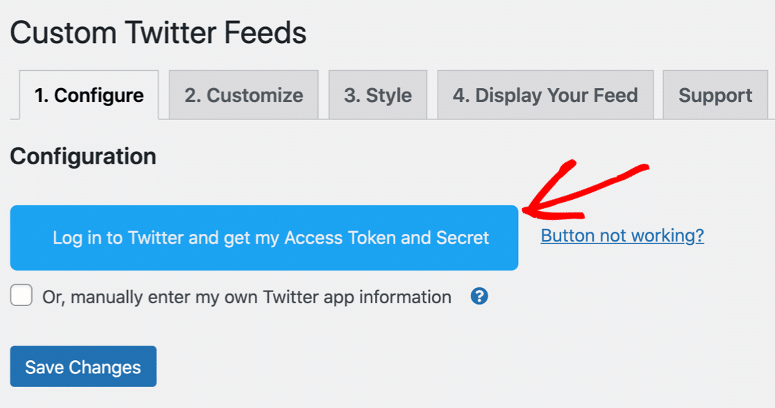 Connect Twitter account to WordPress