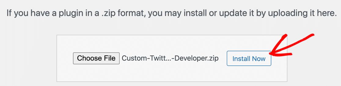Install Custom Twitter Feeds Pro