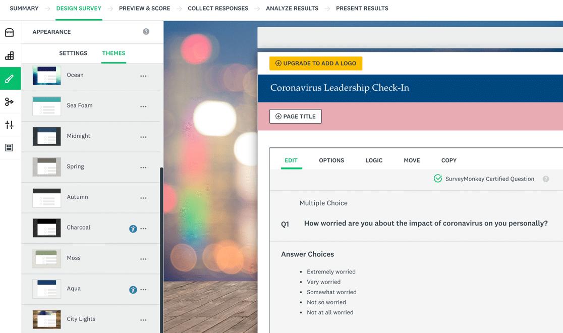 SurveyMonkey templates