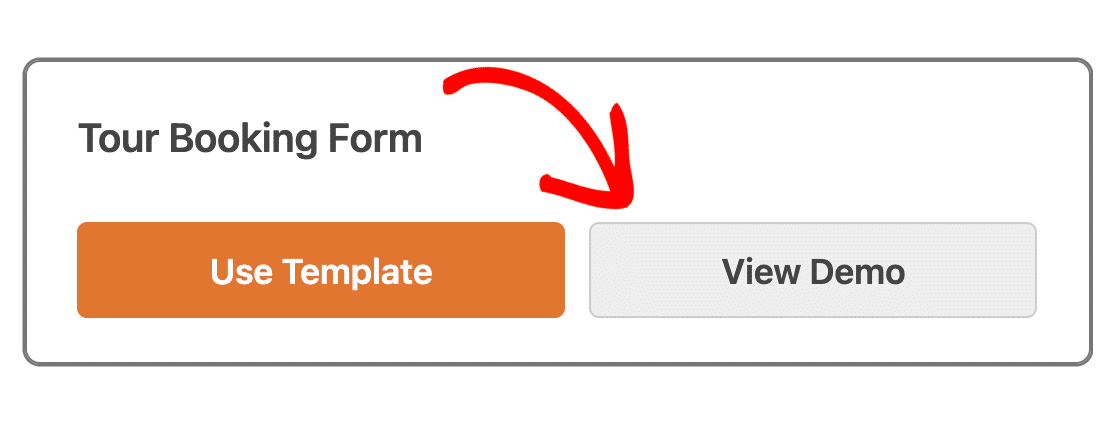Viewing a template demo